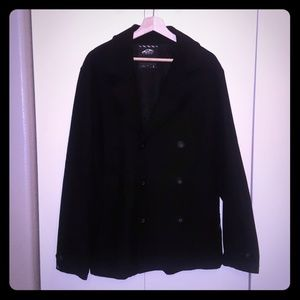 Black Men's Vans Pea Coat